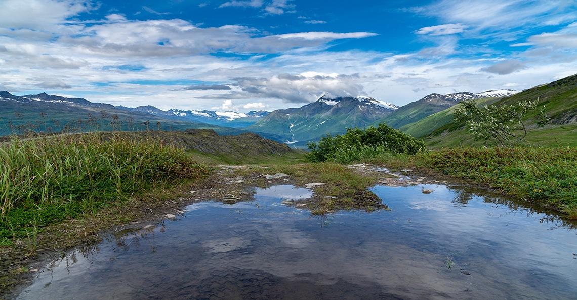 scenic view of the klondike