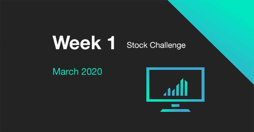 Cover photo for Week 1 of the March 2020 Stock Challenge