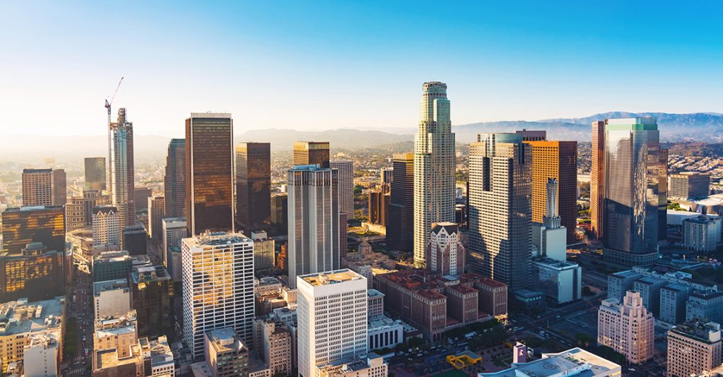 downtown view of los angeles