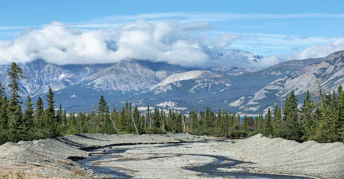yukon territory riverbed