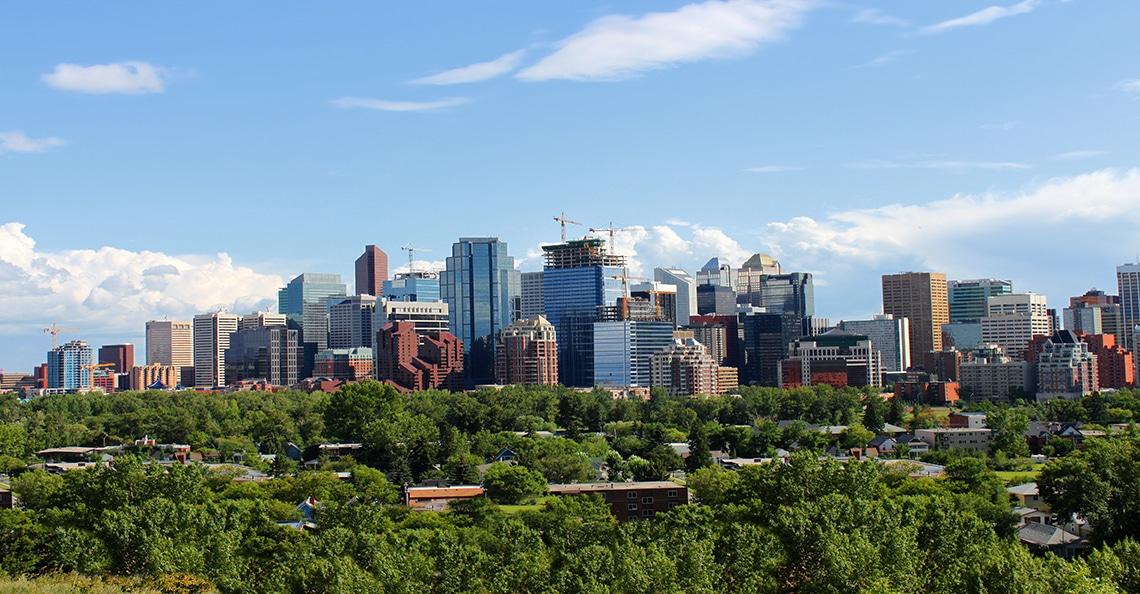View of the skyline of Calgary, Alberta