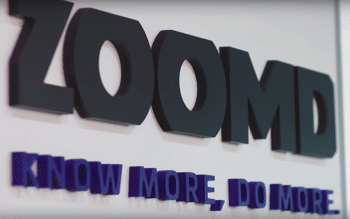 Zoomd logo on a wall